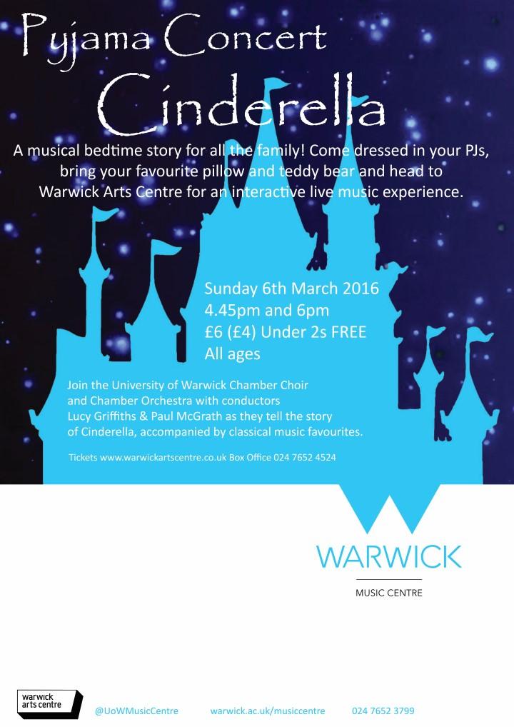 Pyjama concert cinderella warwick arts centre - Warwick university admissions office ...