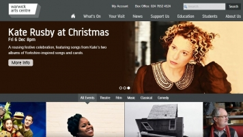 Warwick Arts Centre's new look website