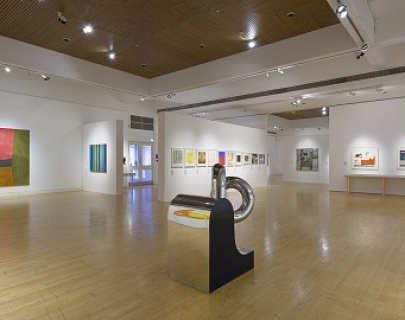 A photograph of the inside of the Mead gallery