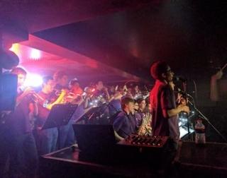 Warwick University Big Band playing at Kasbah club