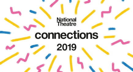 The words Connections 2019 with celebratory confetti around it