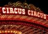 """A lit up sign reading """"Circus Circus"""""""