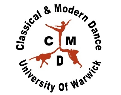 The University of Warwick Classical and Modern Dance logo featuring text and images of dancers