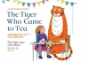 Illustration. A Tiger sits at a table with a young girl. They both have cups in front of them, and there is coloured bunting above. The words read: Olivier Award nominee. The Tiger Who Came to Tea. A musical play adapted and directed by DAVID WOOD Based on the book by JUDITH KERR. This Tiger is the cat's meow. 4 stars. The Times.