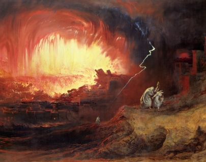 John Martin The Destruction of Sodom and Gomorrah, 1852 Oil on canvas  136.3 x 212.3cm  Courtesy Laing Art Gallery, Newcastle upon Tyne (Tyne & Wear Archives & Museums)