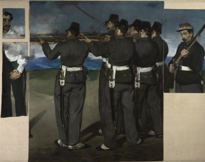 NG3294 Edouard Manet (1832–1883) The Execution of Maximilian  about 1867–8 Oil on canvas 193 x 284 cm The National Gallery, London