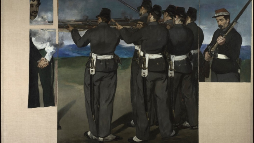Edouard Manet (1832–1883) The Execution of Maximilian about 1867–8 Oil on canvas 193 x 284 cm The National Gallery, London