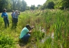 Students photographing the wildlife on Warwick University campus