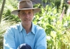 Landscape contractor James Alexander-Sinclair surrounded by plants