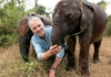 Gordon Buchanan with an elephant