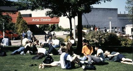 Students outside Warwick Arts Centre
