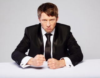 Jonathan Pie on a white background