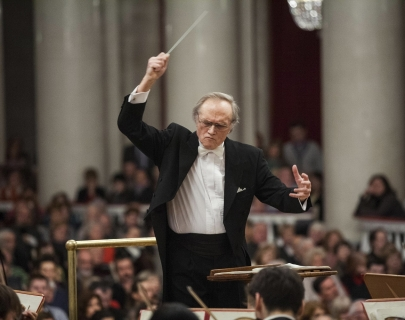 Conductor Alexander Dmitriev during a performance with the St Petersburg Symphony Orchestra