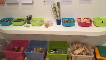 Crafty Materials in the Mead Gallery's Creative Space
