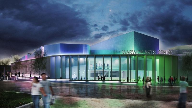 Warwick Arts Centre 2020 at night