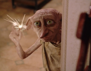 House-elf Dobby snapping his fingers