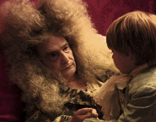 Actor Jean-Pierre Léaud as Louis XIV on his deathbed