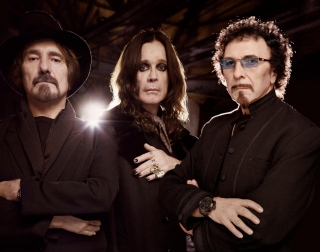 The members of Black Sabbath - Geezer Butler, Ozzy Osbourne and Tony Iommi