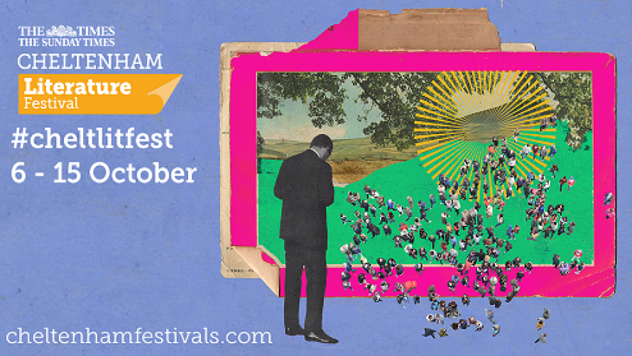 A poster for the Cheltenham Literature Festival