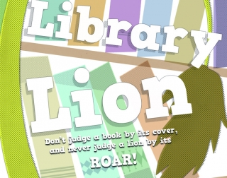 Library Lion logo image