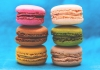 A selection of different coloured macaroons