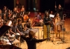 Warwick student musicians and singers on the Butterworth Hall stage