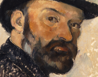 A apinted portrait of Cezanne