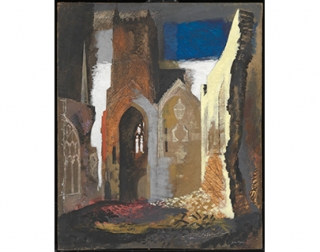 St Mary le Port, Bristol, 1940, John Piper (1903-1992), presented by the War Artists Advisory Committee 1946, © Tate, London 2018.