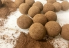 A selection of dusted chocolate truffles